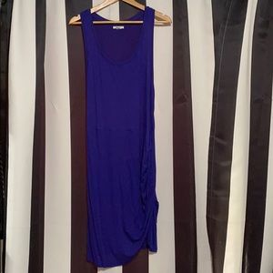 BarIII pencil tank dress with rouging on the side